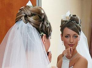 Свадебные прически, макияж.